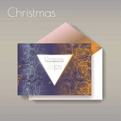 Christmas party invitation  with envelope template Cards have enough copy space Vector format