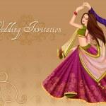 Vector design of Indian couple dancing in wedding ...
