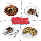 Italian menu colorful illustration