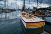 Boats on calm waters of marina