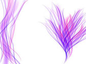 Abstract flower with purple and pink wavy lines on white Abstract violet background Bright illustration