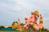 pink Ganesh in sun set time