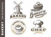 Set bread logo - vector illustration Bakery emblem on white background
