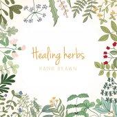 Vintage card of medicinal organic healing herbs