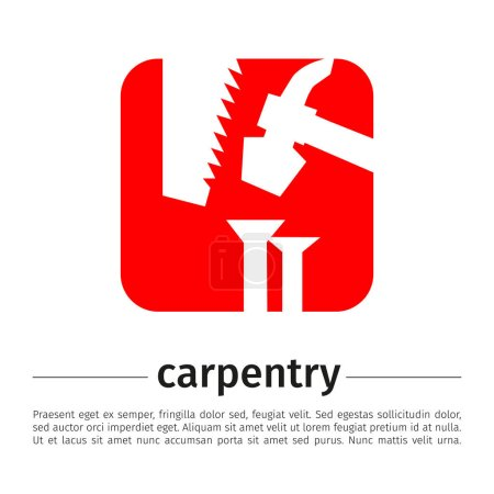 Image of tools for carpentry on white background.