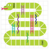 Ladders and snakes game board Vector illustration