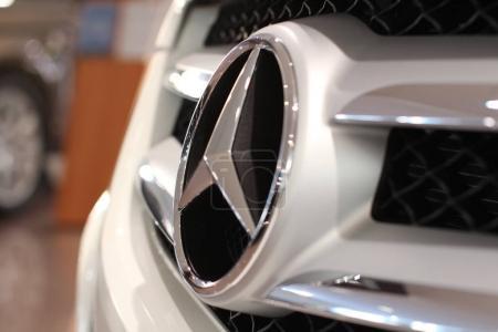 Mercedes logo by car