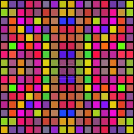 Colorful abstract cubes shapes pixelize texture