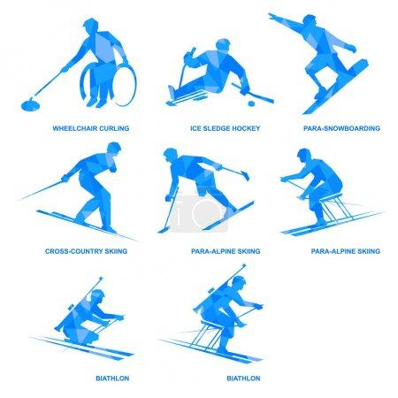 Winter sports icon set Eight