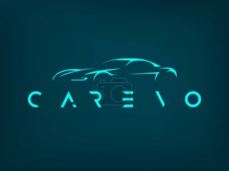Illustration pour Illustration vectorielle de logo de voiture de sport moderne . - image libre de droit