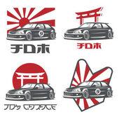 Old japanese car logo emblems and badges
