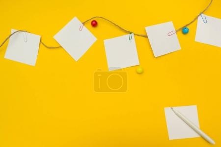 To do list for a kindergarten on a yellow background, place for text