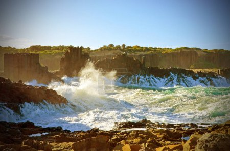 Rough seas at Bombo headland, NSW coast, Australia