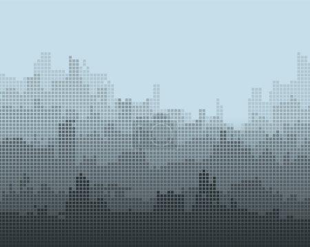 Illustration pour Composition mosaïque de la ville, l'effet de gradient . - image libre de droit