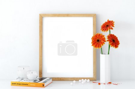 Photo for Perfect for Branding your creation or business. Frame mockups good to use for shop owners, artists, creative people, bloggers, who want to advertise or show their latest design! Frame Ratio 8x10 / 16x20 / 24x30 - Royalty Free Image
