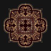 Round lace border frame Elegant element for design in Eastern style