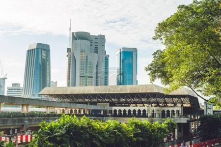 KUALA LUMPUR, MALAYSIA - 24 FEBRUARY 2017: Aerial view of Kuala Lumpur, Malaysia
