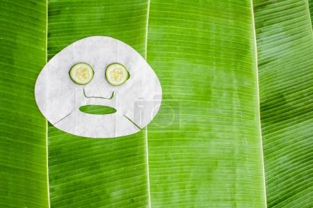 Sheet face mask with cucumber