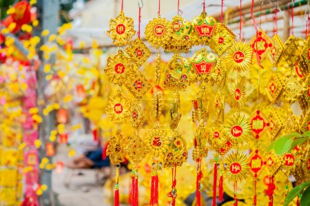 Lunar new year lucky decorations