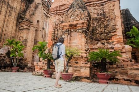 Man tourist in Vietnam