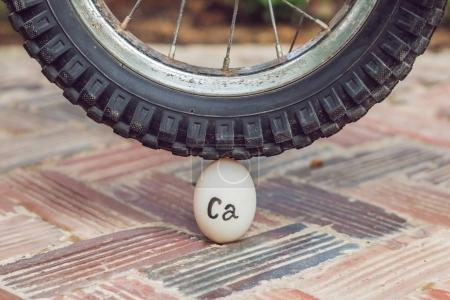 Egg - calcium, under the heavy wheel of a bicycle does not break. The power of the calculus concept