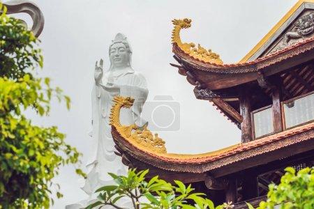 Beautiful Buddhist temple on the hillside, Phu Quoc, Vietnam.