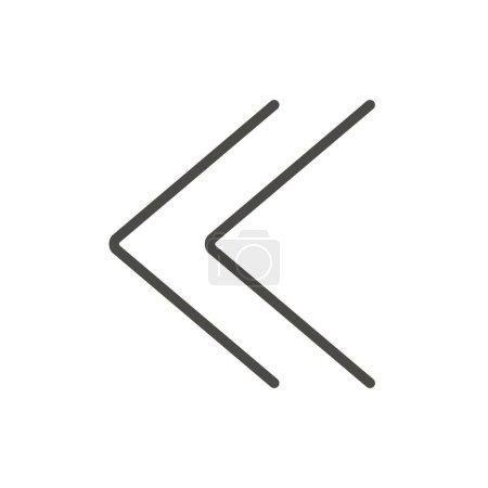 Photo pour Vecteur d'icônes double chevrons. Ligne précédente symbole . - image libre de droit