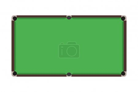 Flat Snooker table Top view