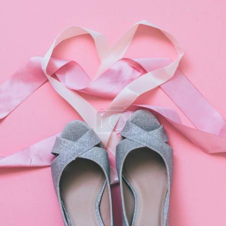 wedding silver shoes