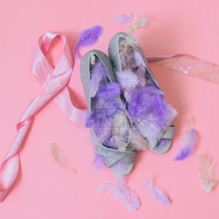 wedding shoes  with feathers