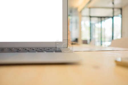 Photo for Business space, Office desk , Copy space for text, Top view - Royalty Free Image