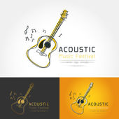 Acoustic guitar logo vector