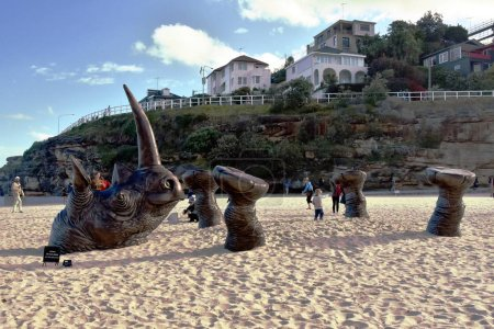 Sculpture along Bondi to Coogee coastal walk
