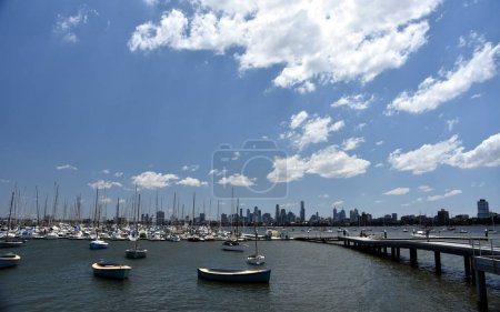 Melbourne skyline from St Kilda