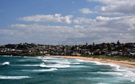 Panoramic view of Curl Curl beach