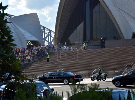 president at Sydney Opera House.
