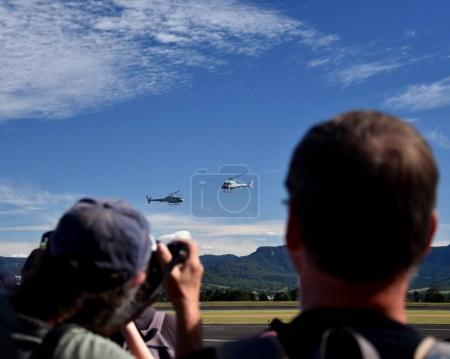 People watching the airshow