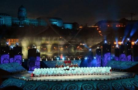 The FINA World Championships ceremony in Budapest