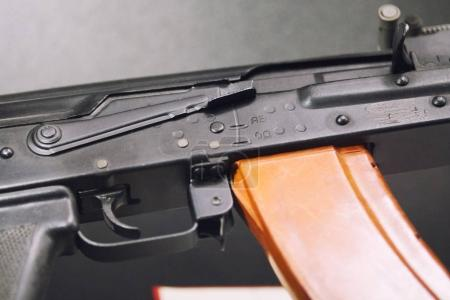 Automatic weapons - kalashnikov assault rifles - close up view