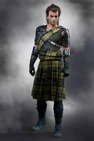Traditional Scottish Romantic Highland Warrior dre...