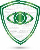 Logo eye shield coat of arms security