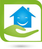 Hand and House Real Estate and House Administration Logo