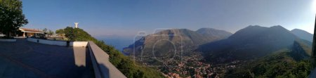 Maratea, Potenza, Basilicata, Italy - June 4, 2017: Panoramic photo from Mount San Biagio.