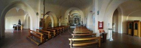 Maratea, Potenza, Basilicata, Italy - June 4, 2017: Panoramic photo of the interior of the church of San Biagio