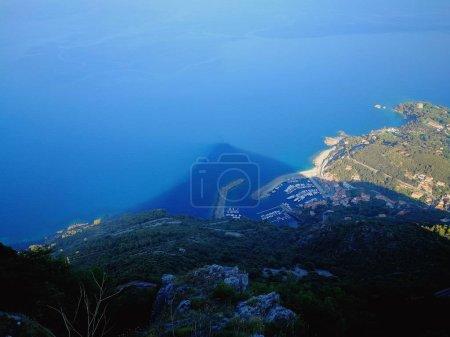 Maratea, Potenza, Basilicata, Italy - June 4, 2017: Port of Maratea in the Shadow of Monte San Biagio