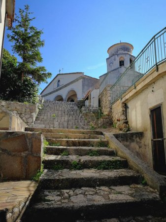 Maratea, Potenza, Basilicata, Italy - June 4, 2017: View of the church of San Biagio