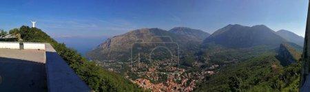 Maratea, Potenza, Basilicata, Italy - June 4, 2017: Panoramic photo of the city of Maratea from Mount San Biagio.