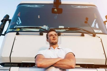 Man Posing by Truck