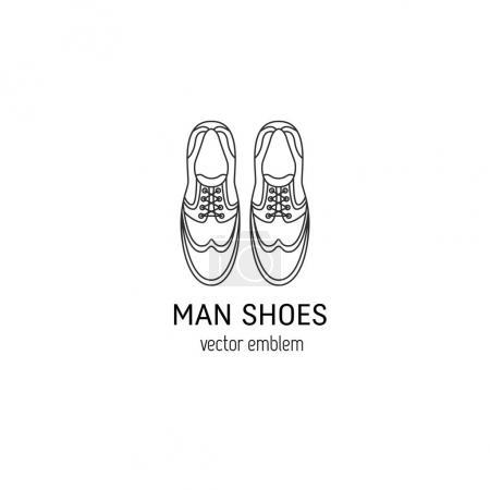Man shoes logo