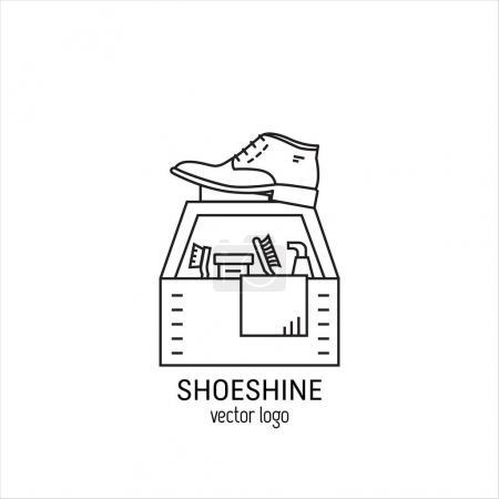 Shoeshine service logo